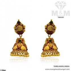 Ravish Gold Women Antique Earring