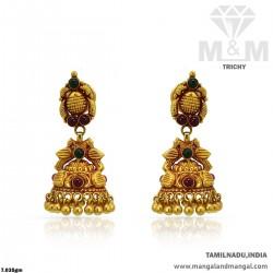 Seductive Gold Women Antique Earring