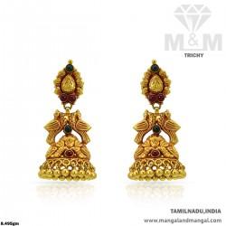Tremendous Gold Women Antique Peacock Earring