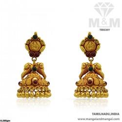 Unique Gold Women Antique Earring