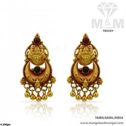 Vivid Gold Women Antique Lakshmi Earring