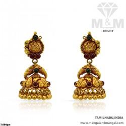 Wondrous Gold Women Antique Earring