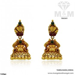 Elegance Gold Women Antique Earring