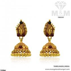 Esthetic Gold Women Antique Earring