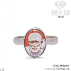 Prettiest Silver Sai Baba Ring