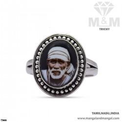 Nicest Silver Sai Baba Ring
