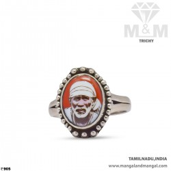 Classy Silver Sai Baba Ring