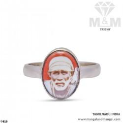 Awesome Silver Sai Baba Ring