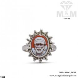 Vivacious Silver Sai Baba Ring