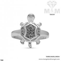 Virtuous  Silver Turtle Ring