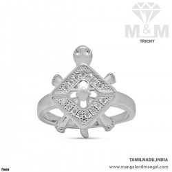 Charismatic Silver Turtle Ring