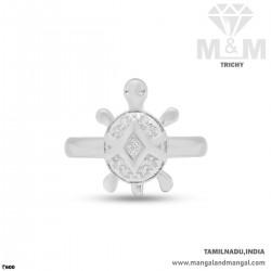 Grandeur Silver Turtle Ring