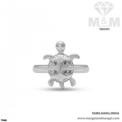 Sculpture Silver Turtle Ring