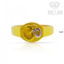 Inspired Gold Casting Om Ring