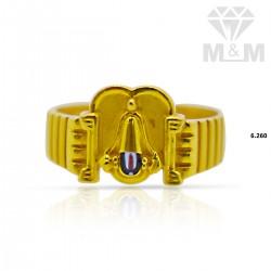 Nice Gold Casting Balaji Ring