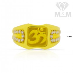Quite Gold Casting Om Ring