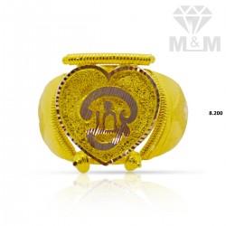 Elegance Gold Casting Om Ring