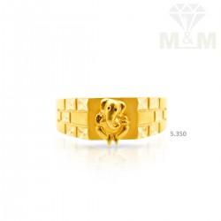 posh Gold Casting Ganesha Ring