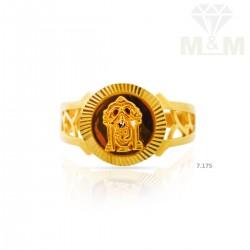 Lush Gold Casting Balaji Ring