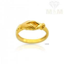 Scenic Gold Casting Ring