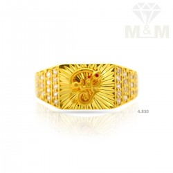 Sightly Gold Casting Om Ring