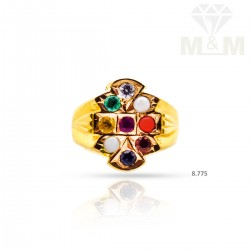 Quite Gold Navarathina Ring