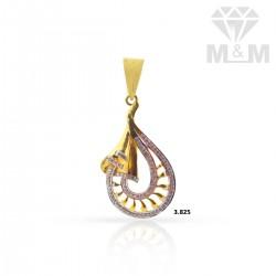 Luxuriant Gold Casting Pendant