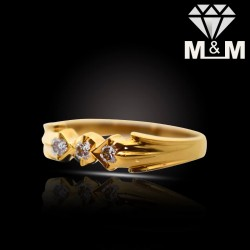 Contemporary Gold Diamond...