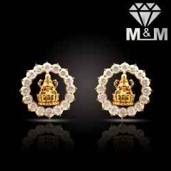 Adorable Gold Diamond Fancy Earring