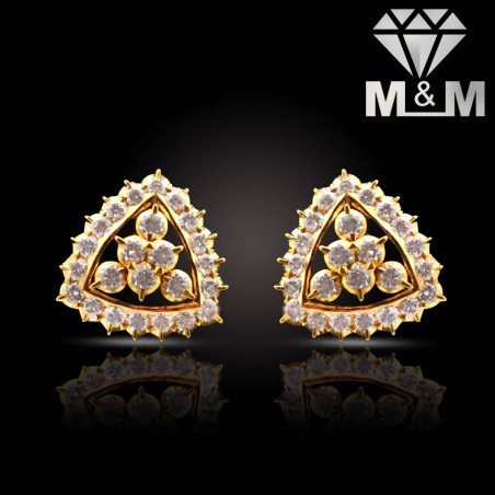 Aesthetic Gold Diamond Fancy Earring