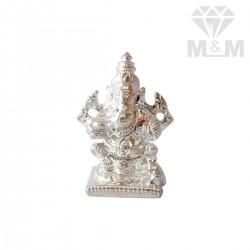 Elegance Silver Ganesha Idol