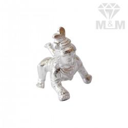 Verdant Silver Krishna Idol
