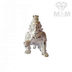 Awesome Silver Krishna Idol