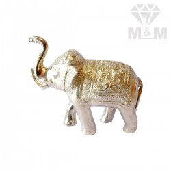 Wonderful Silver Elephant Idol