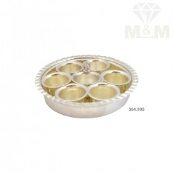Fine Silver Fancy Pottu Plate