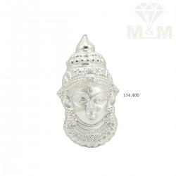Dainty Silver Fancy Amman Mugam
