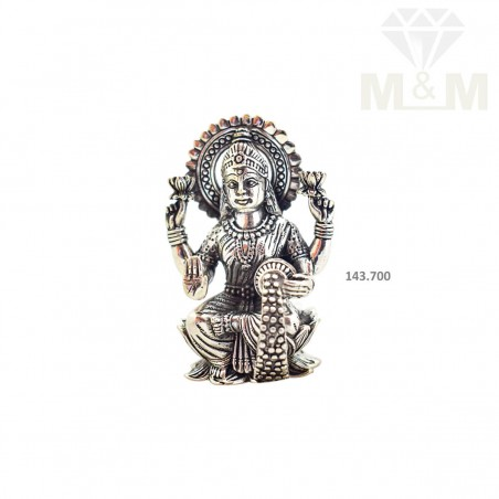 Inspirational Silver Antique Lakshmi Idol