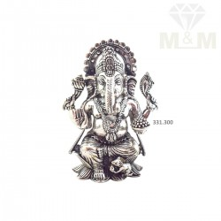 Gorgeous Silver Antique Ganesha Idol