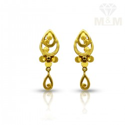 Flamboyant Gold Casting Stud
