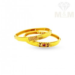 Impressive Gold Antique Bangle