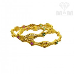 Joyful Gold Fancy Bangles