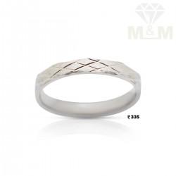 Dazzling Silver Wedding Ring