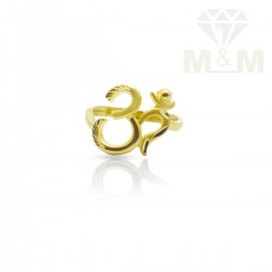 Exquiste Gold Fancy Om Ring