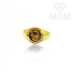Blessed Gold Casting Om ring
