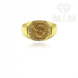 Handsome Gold Casting Om Ring