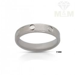 Sumptuous Silver Wedding Ring