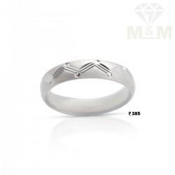 Vivacious Silver Wedding Ring