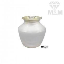 Glorious Silver Fancy Thavalai Pot