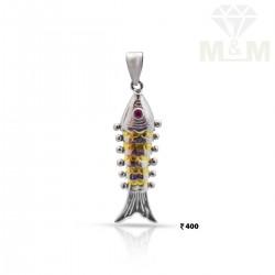 Joyful silver Fish Pendant