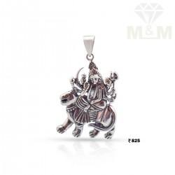 Sparkling Silver Fancy Pendant